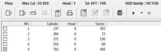 Vamos a quitar de la lista al sector 702:0:495
